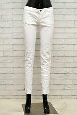 Pantalone DIESEL Donna Taglia 28 Pants Jeans Woman Cotone Bianco Slim Skinny Fit