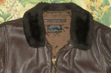 1972 Vtg G1 Vietman Brown Leather Intermediate Flyers Jacket Usn 42
