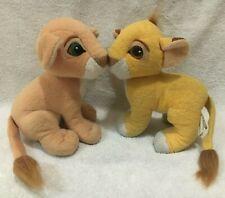 "Disney Mattel The Lion King Simba & Nala Kissing 8"" Plush Toys Stuffed Animals"