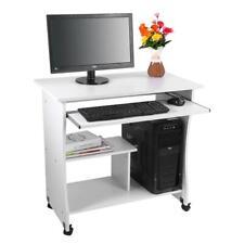 Computertisch Schreibtisch Arbeitstisch mobiler Bürotisch PC Tisch mit Ablagen