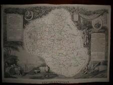 CARTE GEOGRAPHIQUE PUBLIE PAR COMBETTE 1845 / DEPARTEMENT DE L'AVEYRON