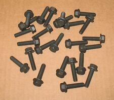 M6-1.0 x 25mm Hex Flange Bolt Black Zinc Coated Full Thread Class 10.9 - 25 pcs