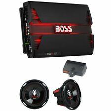 Boss 3700W 5 Channel Car Audio Amplifier & 12 Inch 2300 Watt Subwoofers (2 Pack)