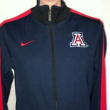 Arizona Wildcats MEDIUM Nike Dri Fit Team Issued Sidelines Track Jacket Blue Red