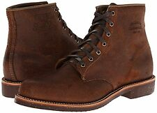 NEW Chippewa Service Brown Bomber Waxed Suede Leather Mens Boots SZ 10 D