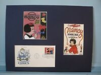 Nancy & Sluggo and their Comic Strip Classics & First Day Cover of its own stamp