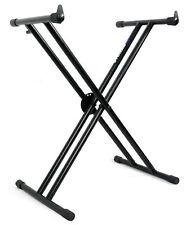 Rockville Double X Braced Keyboard Stand w Push Lock For Yamaha Piaggero NP-32