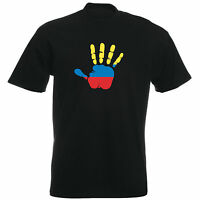 Kolumbien - T-Shirt - Handabdruck - Palm Hand Print - Herren - Flag - Columbia