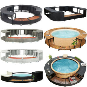 Whirlpool Umrandung Poolumrandung Poolverkleidung Jacuzzi für Bestway Lay-Z-Spa