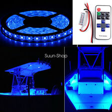 Wireless Blue LED Car Boat Interior Accent Lights Kit Waterproof Bright Strips