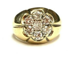 14k yellow gold 2.10 cts Diamond Ring Size 11.25 12.7 gr