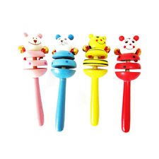 Beautiful Baby Bell Toy Cartoon Animal Wooden Musical Children Funny Cute