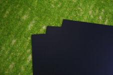 3 sheets of BLACK Plasticard 80/000 Terrain & Scenery