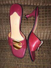 """LizFlex """"Guru"""" by Liz Claiborne Sandals Red Slip-on Size 7.5M"""