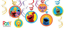 Sesame Street Party Supplies SWIRL DECORATIONS Pack Of 12
