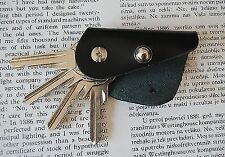 Leather key holder, Holds 1- 4 regular keys