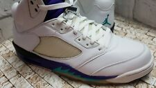 Air Jordan V 5 retro LS Nike Basketball Casual WHITE/EMERALD GREEN GRAPE ICE