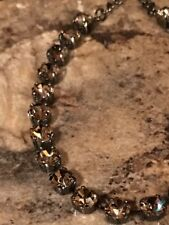 ❤️ Necklace Choker Natural Black Diamond W/Swarovski Crystals Hematite Chain