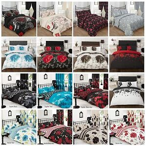 3 Piece Duvet / Quilt Cover with Pillow Case Bedding Set ~ Double, King Size