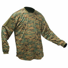 New Valken Paintball V-Tac Echo Playing Jersey - Green Marpat DIGI Camo - XS