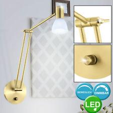 LED Design Wand Leuchte Glas Spot Strahler verstellbar Dimmer Lese Lampe messing