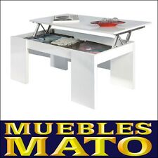 MESA DE CENTRO ELEVABLE COLOR BLANCO ¡MUEBLES MATO! MD. LARA