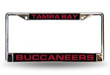 NFL Tampa Bay Buccaneers Laser Cut Chrome License Plate Frame