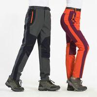 Softshell Couple Waterproof Windproof Pants Hiking Climbing Ski FleeceTrousers