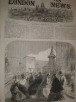 Bird Show at the Crystal Palace London 1865 print ref T