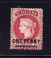St Helena, 1868, 1d lake, with Type B bar overprint, SG 8, MH, Lot 6517
