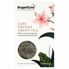 Dragonfly Jade Orchid Green Tea Pyramid Bags 15 per pack