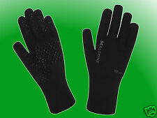 Ultra Grip Gloves black - Seal Skinz wasserdichte / wasserfeste Handschuhe