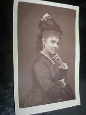 Cdv old photograph opera soprano Rose Hersee c1870s