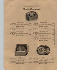 1903 PAPER AD Ship Yacht Marine Compass Ritchie Colonial Liquid Lathrop Fog Horn