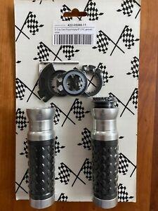 Griff Motorrad S-Grip Gas-/Kupplungsgriff CNC gedreht silber