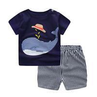 Baby Boy Kids Spring Summer Short-Sleeves Clothes Sets 2pcs Tops Shorts AU
