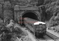 PHOTO  DMU SUBURBAN SET ON SPECIAL WORKING EMERGING FROM BARRY ISLAND TUNNEL AND