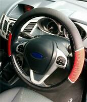 Protect Original Steering Wheel Cover Red-Black From Wear And Tear For Mini