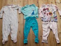 3x Schlafanzüge Mädchen Gr. 86 92 My Little Pony Elsa lang Pyjama 1 2 teiler süß