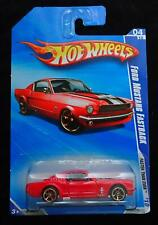 HOT WHEELS FORD MUSTANG FASTBACK FASTER THAN EVER - RED, BLACK & WHITE  - NEW