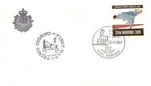 San Marino, FDC - 300 lire Campionati europei juniores di judo, 22/09/1981