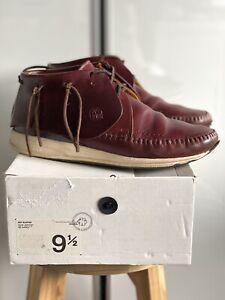 Visvim FBT Elston Boots Shoes Burgundy Brown w/Box US9.5 UK9 Rare Virgil Folk