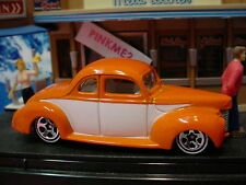 Since 68 Hot Wheels '40 Ford Coupe✰Orange/White;wl5s p✰New Loose✰Hot Rods