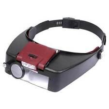 Tiltable LED Light Headband Magnifier Battery Magnifying Head Mounted Lens