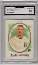AARON JUDGE RC 2017 Topps Allen & Ginter #172 GMA Graded 10 Baseball Rookie ROY