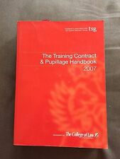 """THE TRAINING CONTRACT & PUPILLAGE HANDBOOK 2007"" THICK PAPERBACK BOOK"