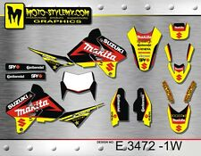 Suzuki DRz 400 1999 up to 2018 graphics decals kit Moto StyleMX