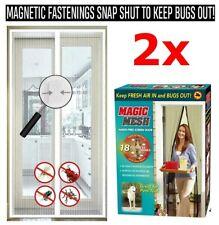 2 x Magnetica Magic Mesh tenda Schermo Netto Fly Bug Zanzara Insetti Porta