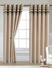 Modern Striped Eyelet Top Curtains