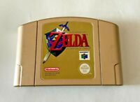 The Legend Of Zelda Ocarina Of Time - Nintendo 64 N64 Game - Gold Cartridge